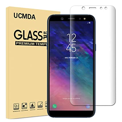 huge discount e7802 f0bc4 Samsung A6 Plus Screen Protector, UCMDA [3D Full Coverage] [Bubble Free &  Anti-Scratch ] Tempered Glass Screen Protector Guard Cover Film for Samsung  ...
