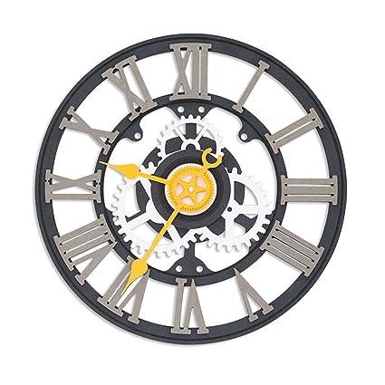 LPYMX,Reloj de Pared Colgar Mesa Romana Reloj Digital Europeo Industrial Retro Creativo Reloj de