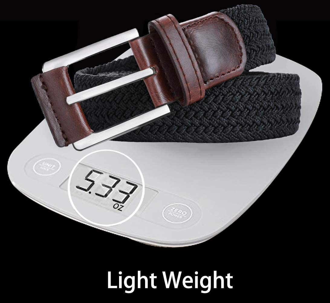 Stretch Belt Men,Bulliant Mens Woven Stretch Braided Belt 1 3//8