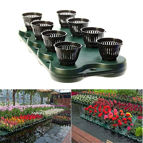 (16Plugs /2pcs Aquaponics Floating Pond Planter Basket- Hydroponic Island Gardens by Aquarium Supplies )
