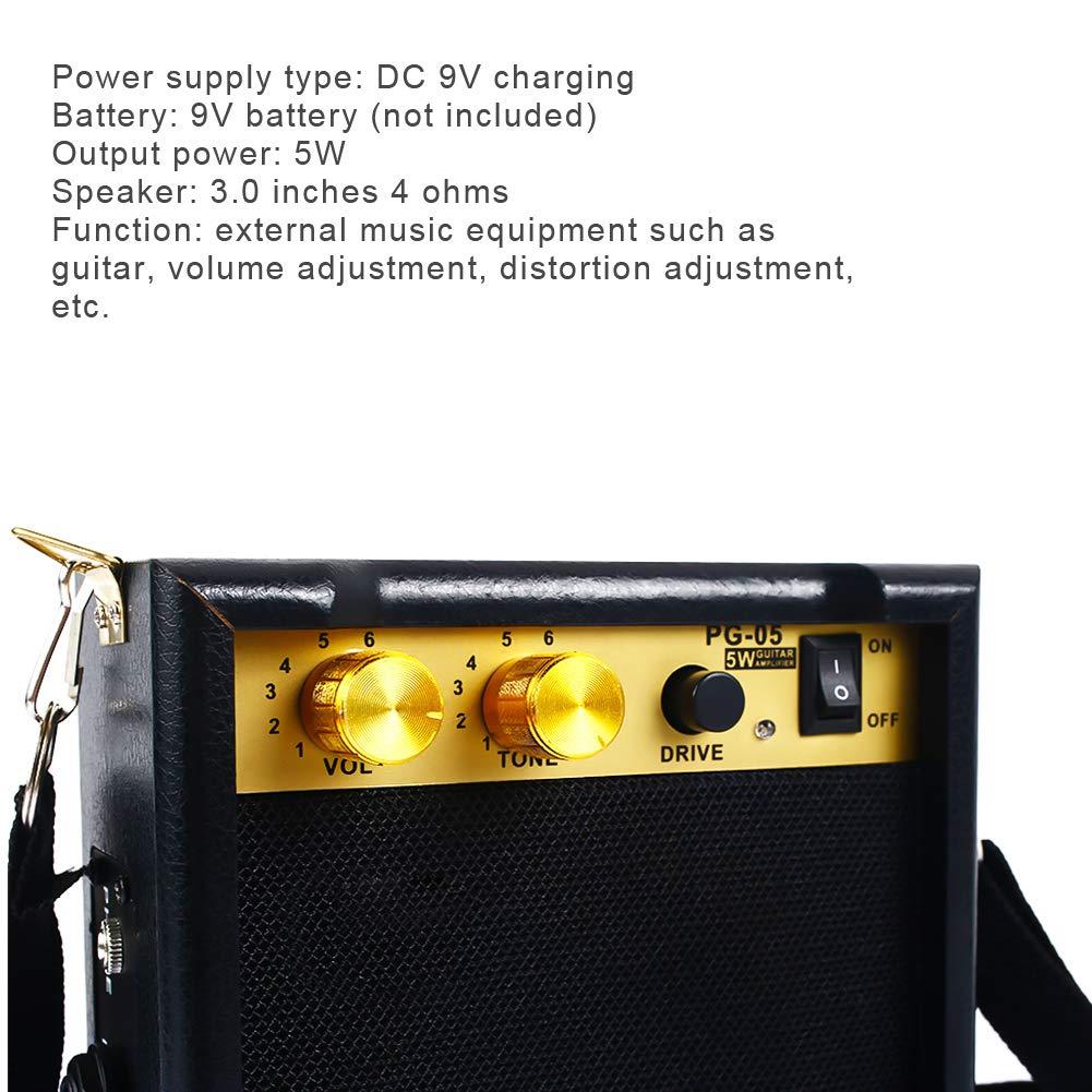 Xinzhi Guitarra eléctrica Altavoz-Amplificador de Guitarra eléctrica Amplificador portátil con Control de Tono de Volumen: Amazon.es: Deportes y aire libre