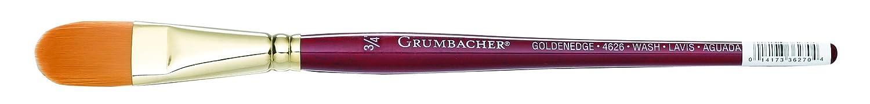 Grumbacher Goldenedge Golden Toray Oval Wash Watercolor Brush Size 1//2 4626.050 Synthetic Bristles