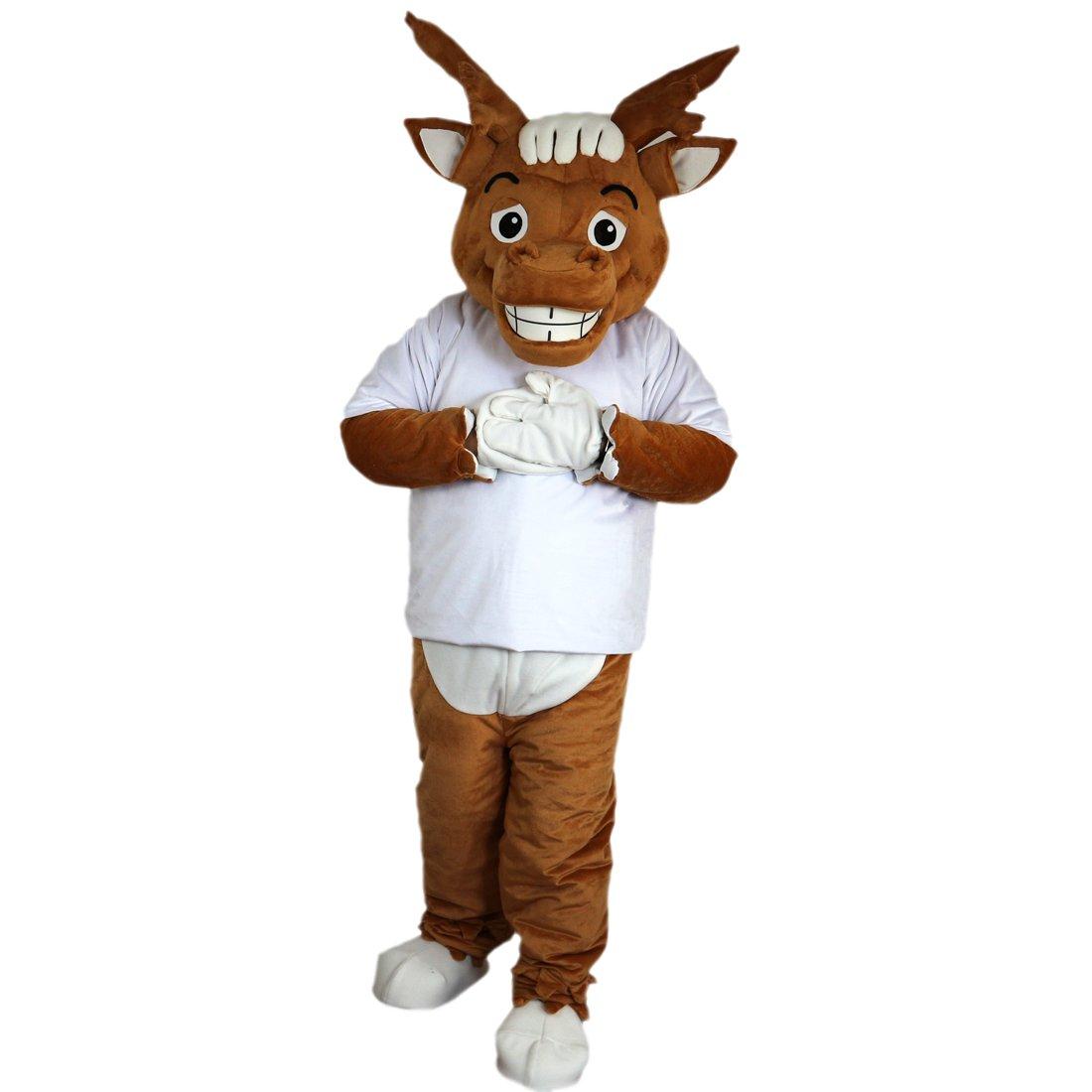 cartoon mascot Wapiti - Disfraz de Codo de Lobo y Luna de Color ...