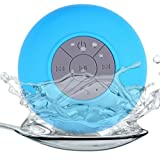 Bartram Bluetooth スピーカー ワイヤレススピーカー Bluetooth 4.0 吸盤式対応 防水仕様 IPX4 耐衝撃 お風呂専用 内蔵マイク付 音楽再生 6時間連続再生 (ブルー)