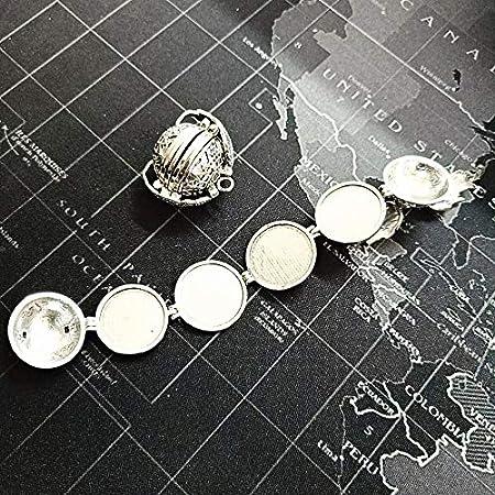 Mejor Colgante de Foto expandible de 5 Colores para medallones de ...