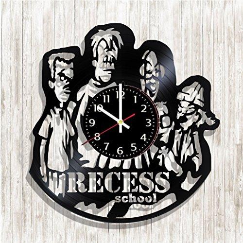 Design wall clock Recess: School's Out made from real vinyl record, Recess: School's Out decal, Recess: School's Out poster, best gift for Recess: School's Out fans, design art wall decor