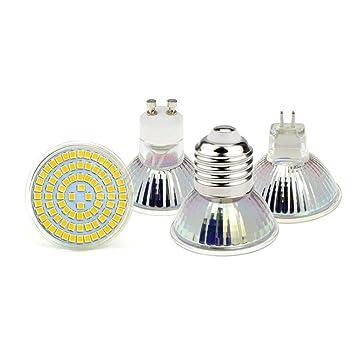 GGSSYY-JNDP 2pcs AC 220V Led Spotlight Bombilla Gu10 E27 Mr16 Gu5.3 5W 7W 9W 2835 SMD Lámpara Led 48/60/80 Leds para iluminación de iluminación: Amazon.es: ...