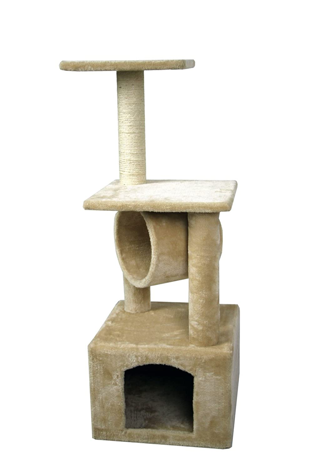 Carpeted Cat Tree House