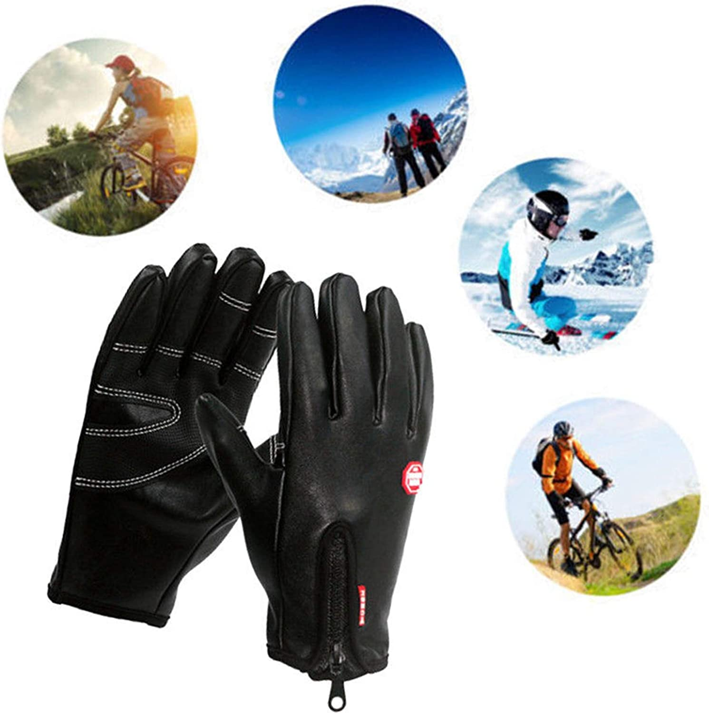 Mens Women Winter Gloves Touch Screen Full Finger Sport Running Driving Gloves