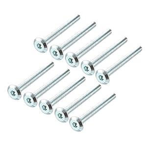 uxcell M6x60mm Furniture Bolts Hex Socket Screws Fastener Zinc Plated 10pcs