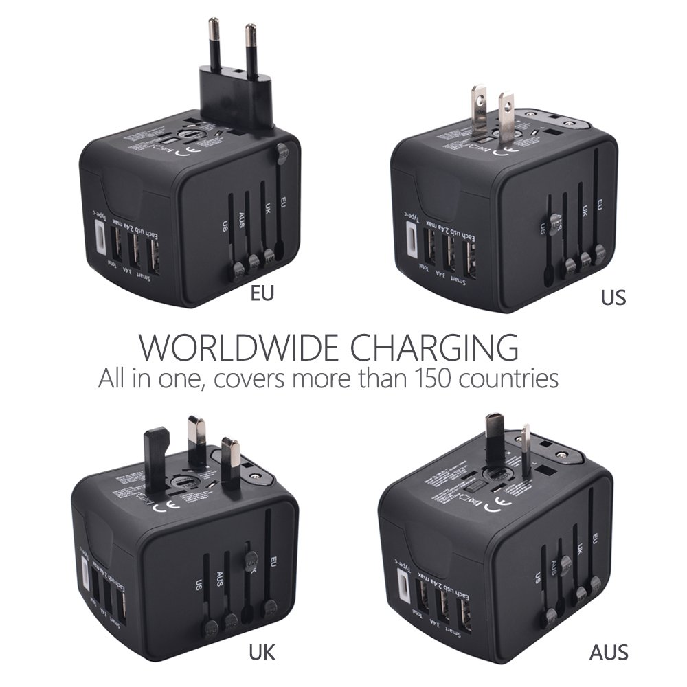 us universal all in one worldwide travel adapter worldwide ac outlet plugs  for europe 3 0a