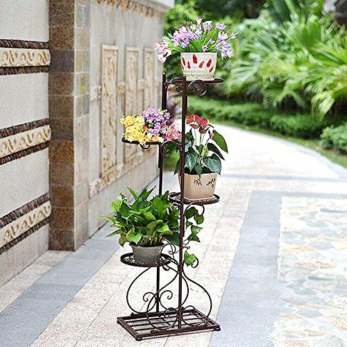 Amazon.com: Hierro Art 4 macetas para flores planta soporte ...