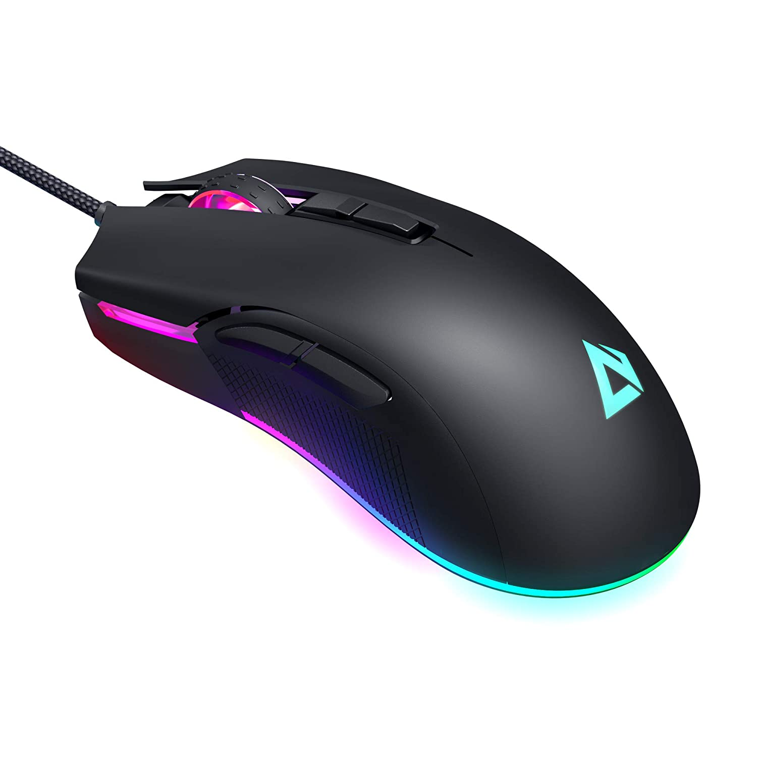AUKEY Mouse Gaming RGB, Mouse FPS con 5000 DPI Reali