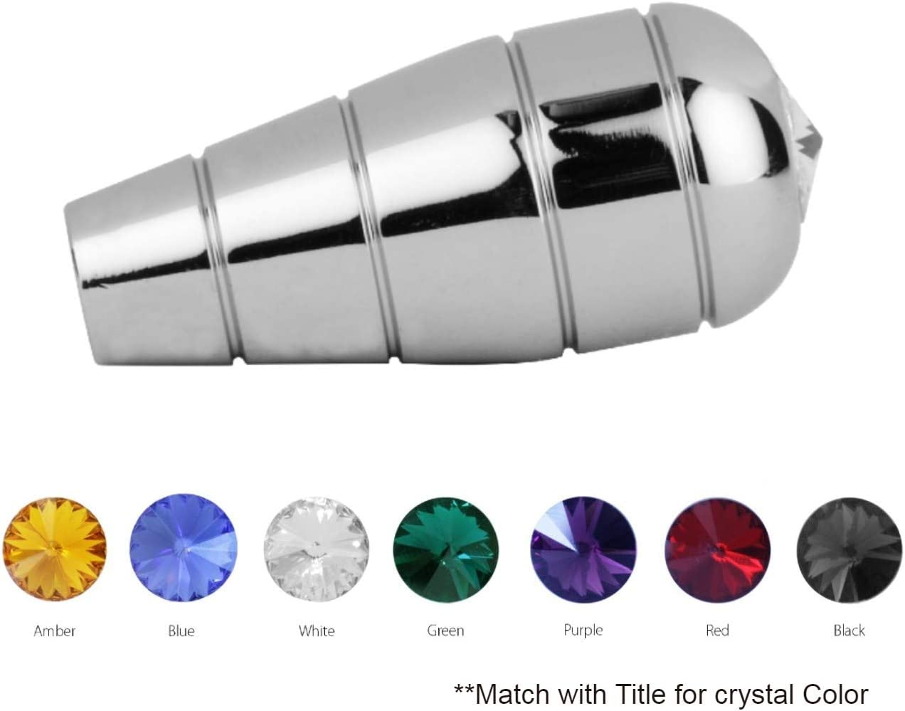 GG Grand General 96571 Chrome Aluminum Turn Signal Handle w//Blue Crystal