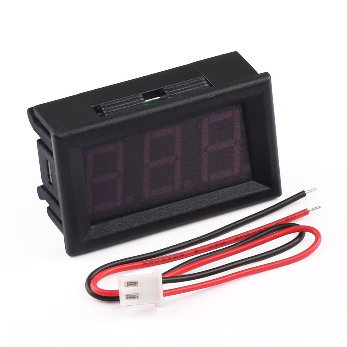 Digital Voltage Meter 12v Drok Led Display Voltmeter Panel Wiring Boat Precision Variable 2 Wires 3 Digits
