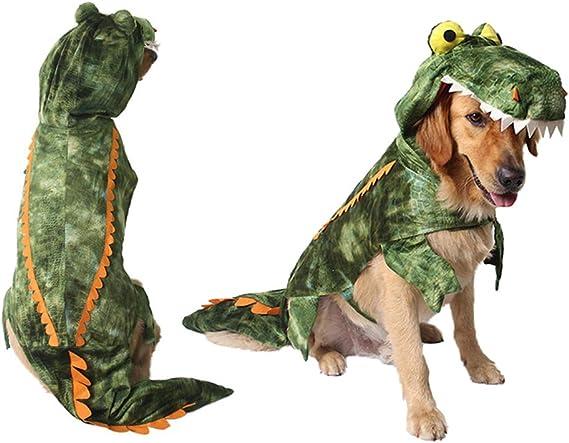 Disfraz de Invierno de Calentar para Mediano Peque/ño Grandes Perros Disfraz Festivo Tama/ño XS POPETPOP Disfraces para Mascotas Ropa de Cocodrilo para Perros