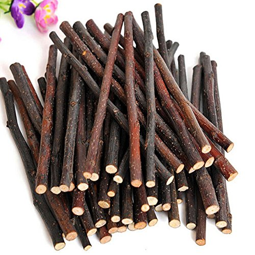 HEART SPEAKER Natural Wood Chew Sticks Twigs for Small Pets Rabbit Hamster Guinea Pig Toy