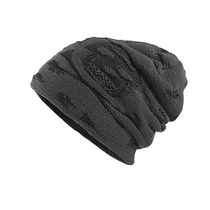 Imjono Männer Thicken Warm Gestrickte Mütze Häkeln Winter Strick