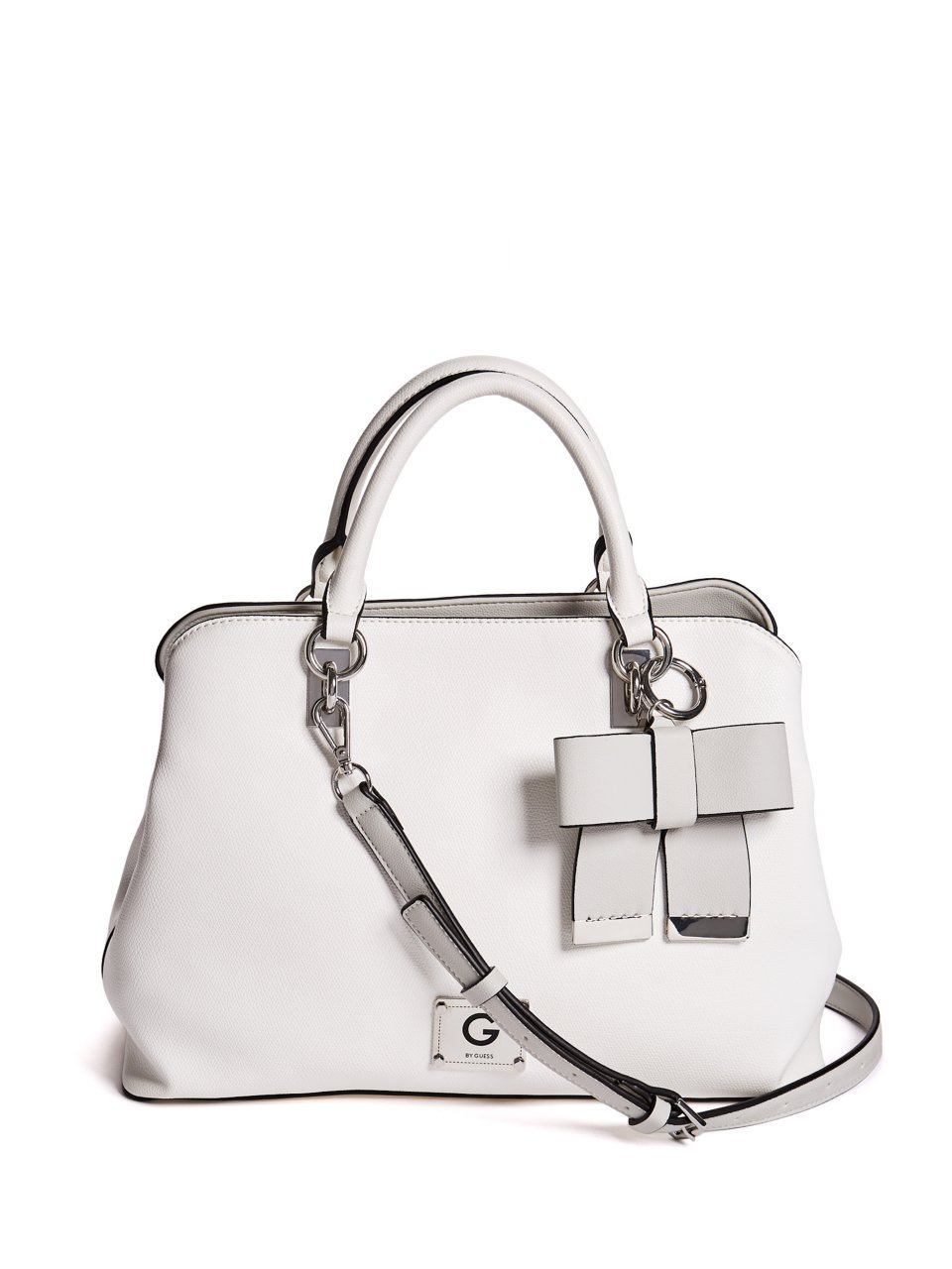 G by GUESS Women's Jayda Color-Block Bow Charm Strap Satchel