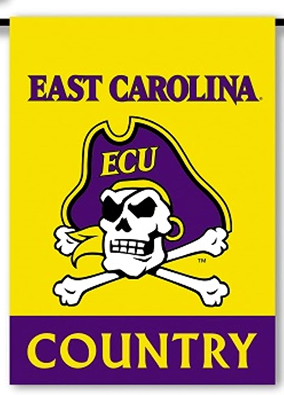 East Carolina Pirates Country ECU Premium 2-Sided Garden Flag Banner University