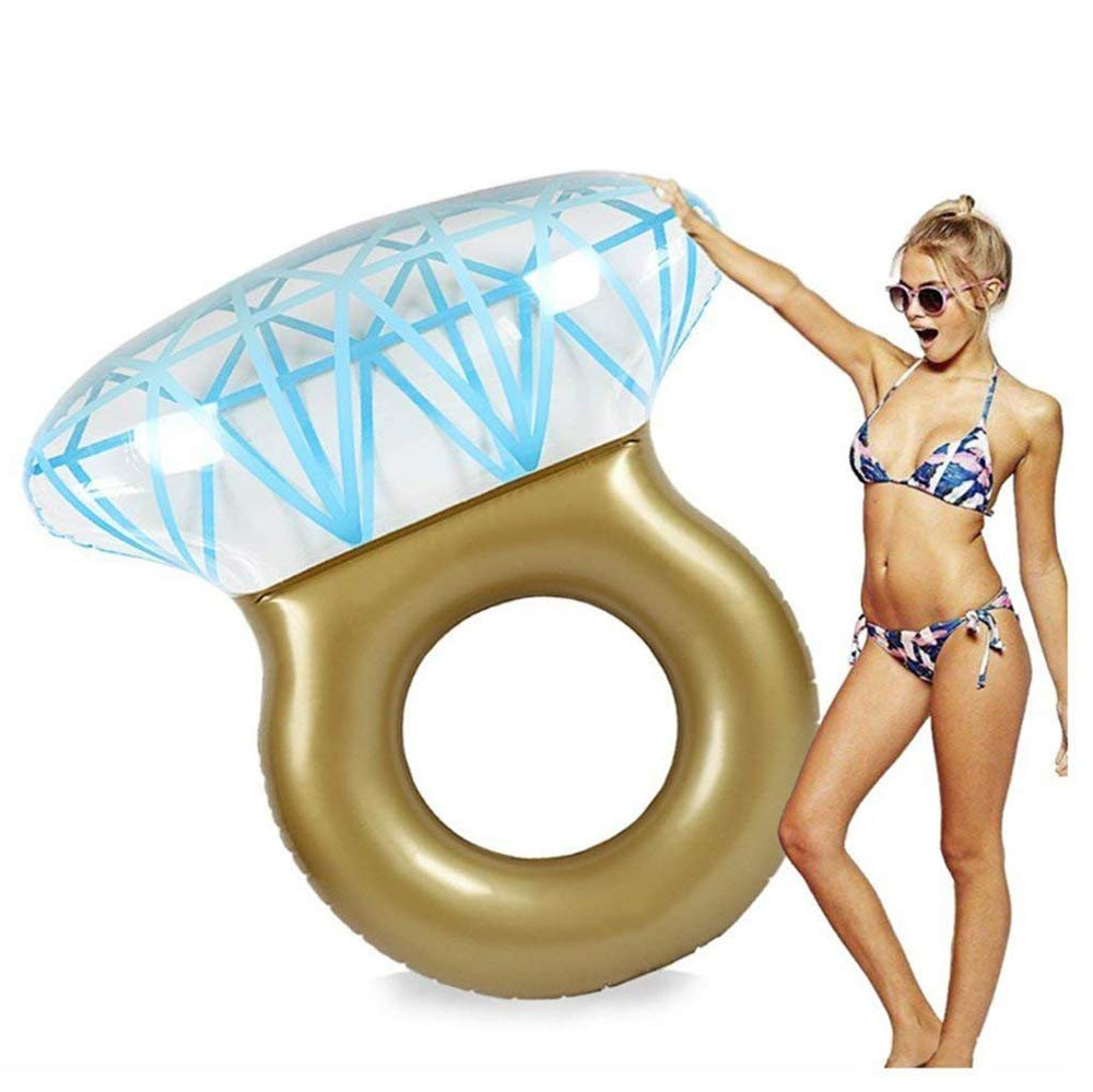 MY'S Inflatable Diamond Ring Pool Float, Swimming Circle Toy Water Ring Floating Bed Summer Swimming Pool Ploat Tube for Adults & Kids. (TYP1)