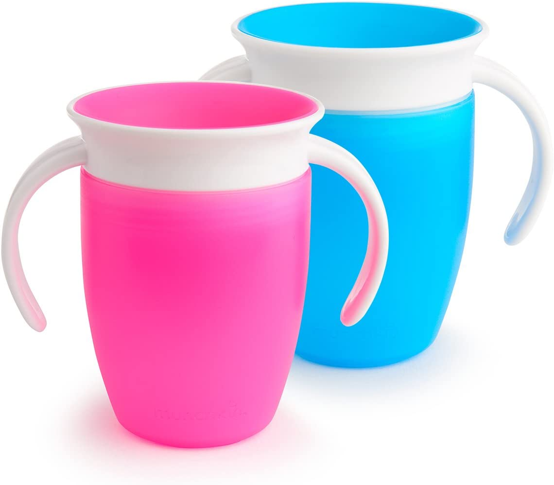 Pink//Blue Munchkin Miracle 360 Trainer Cup 2 Count