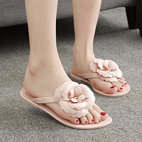 fiori scarpe piatte freddo piede pantofole coreana flop pantofole versione donna Rosa Estate per pantofole flip qwAtnaxX