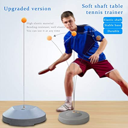 following Table tennis trainer table tennis ball player elastic soft shaft thickened metal base anti-rollover stable single self-practicing ball for indoor and outdoor everyone
