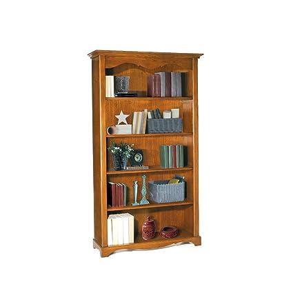 Libreria, stile classico, in legno massello e mdf con rifinitura in ...