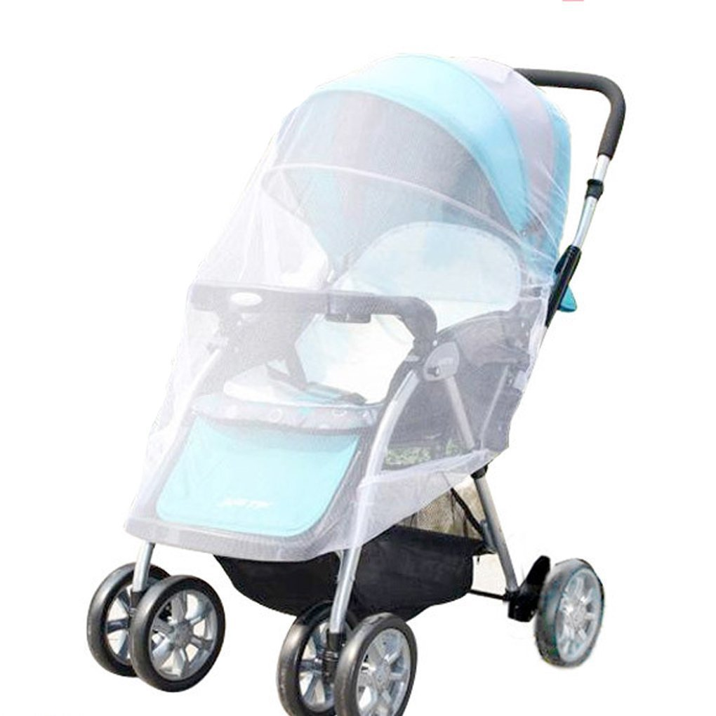 SUNREEK White Infants Baby Stroller Pushchair Mosquito Insect Net Safe Mesh Buggy Crib Netting Cart Mosquito Net