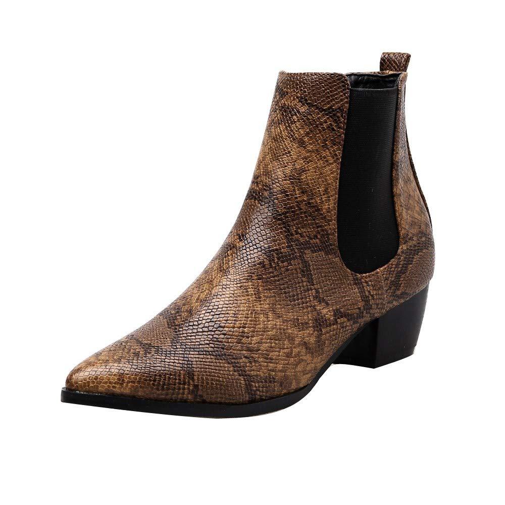 Bottes Femmes-Overmal 2018 Mode Retro Solide Talon épais Bottes Élégant Talon Chelsea Martin Bottes Bottine Party Sauvage Chaussures