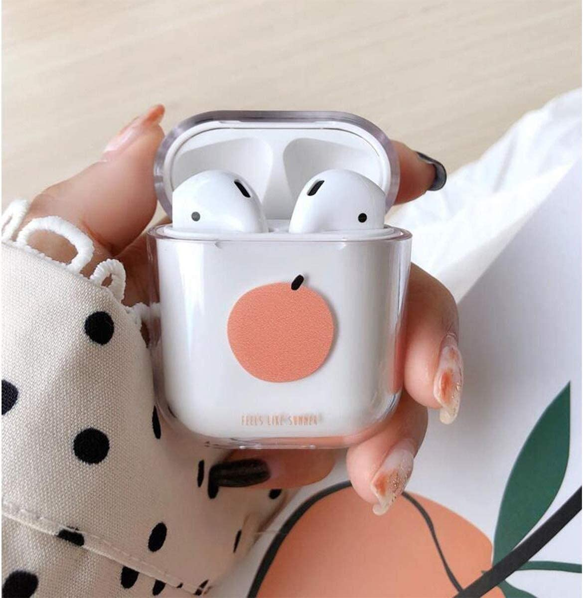 YSYYSH Wireless Bluetooth Headset Set Silicone Material Transparent Earphone Storage Box A Variety of Patterns Can Choose Portable Earphone Color : R