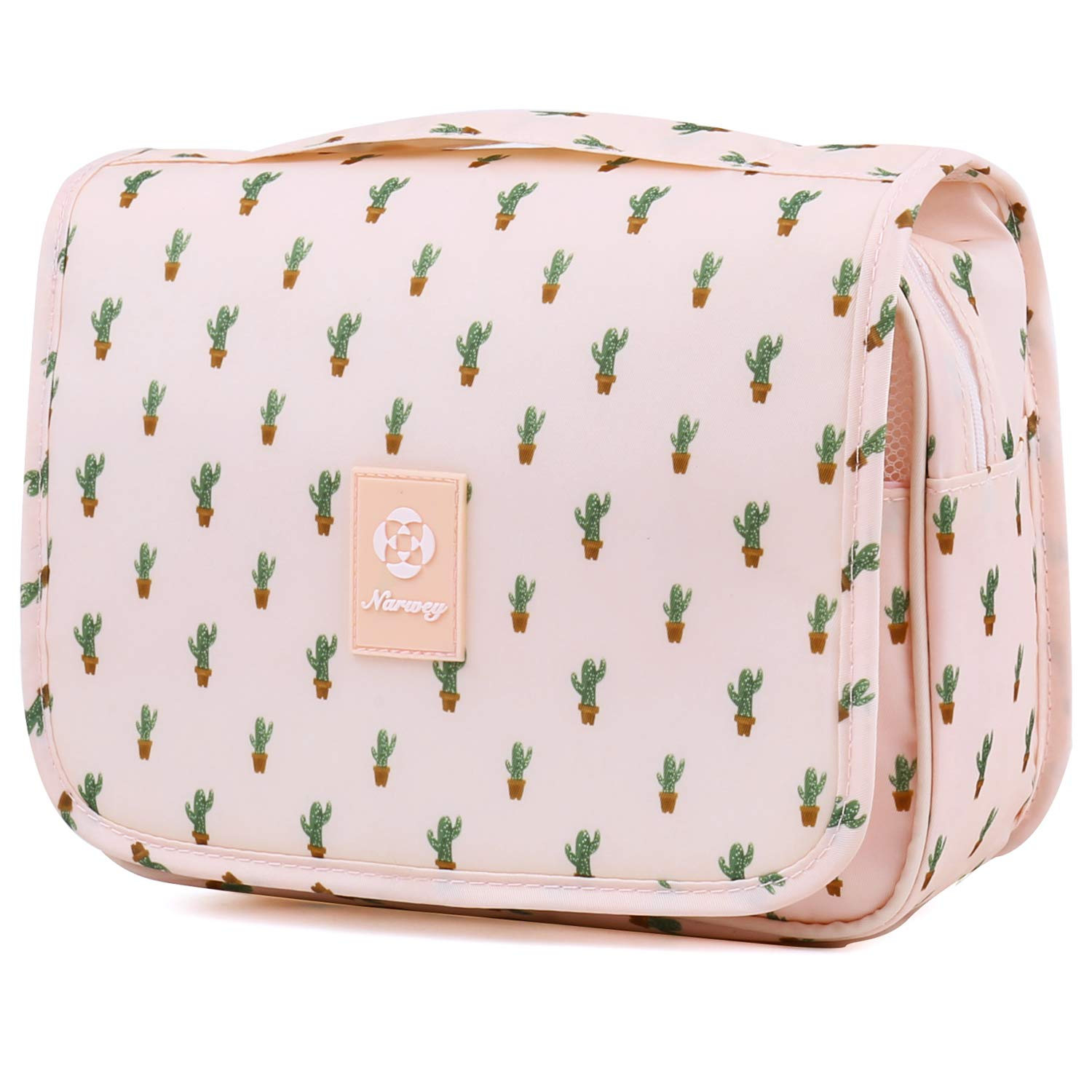 Hanging Travel Toiletry Bag Cosmetic Make up Organizer for Women and Girls Waterproof (Cactus)