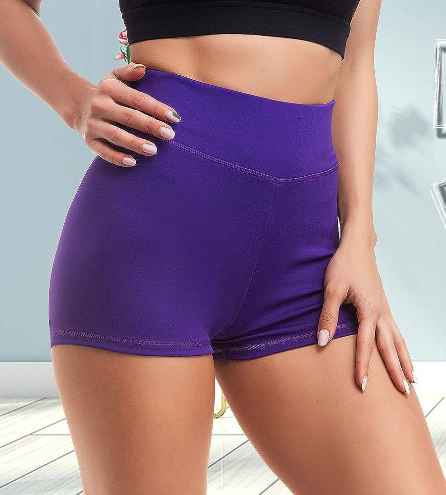 ZAIQUN Women Yoga Shorts Ruched Booty High Waisted Gym Workout Shorts Butt Lifting Hot Pants