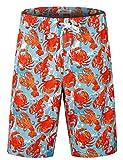 APTRO Men's Swim Trunks Crab Printing Bathing Suit #HW016 L