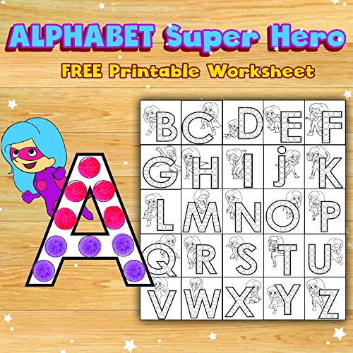 Counting Number worksheets kindergarten cut and paste worksheets free : Amazon.com: Dab and Dot Set of 5 Super Girl Shimmer Dot Washable ...