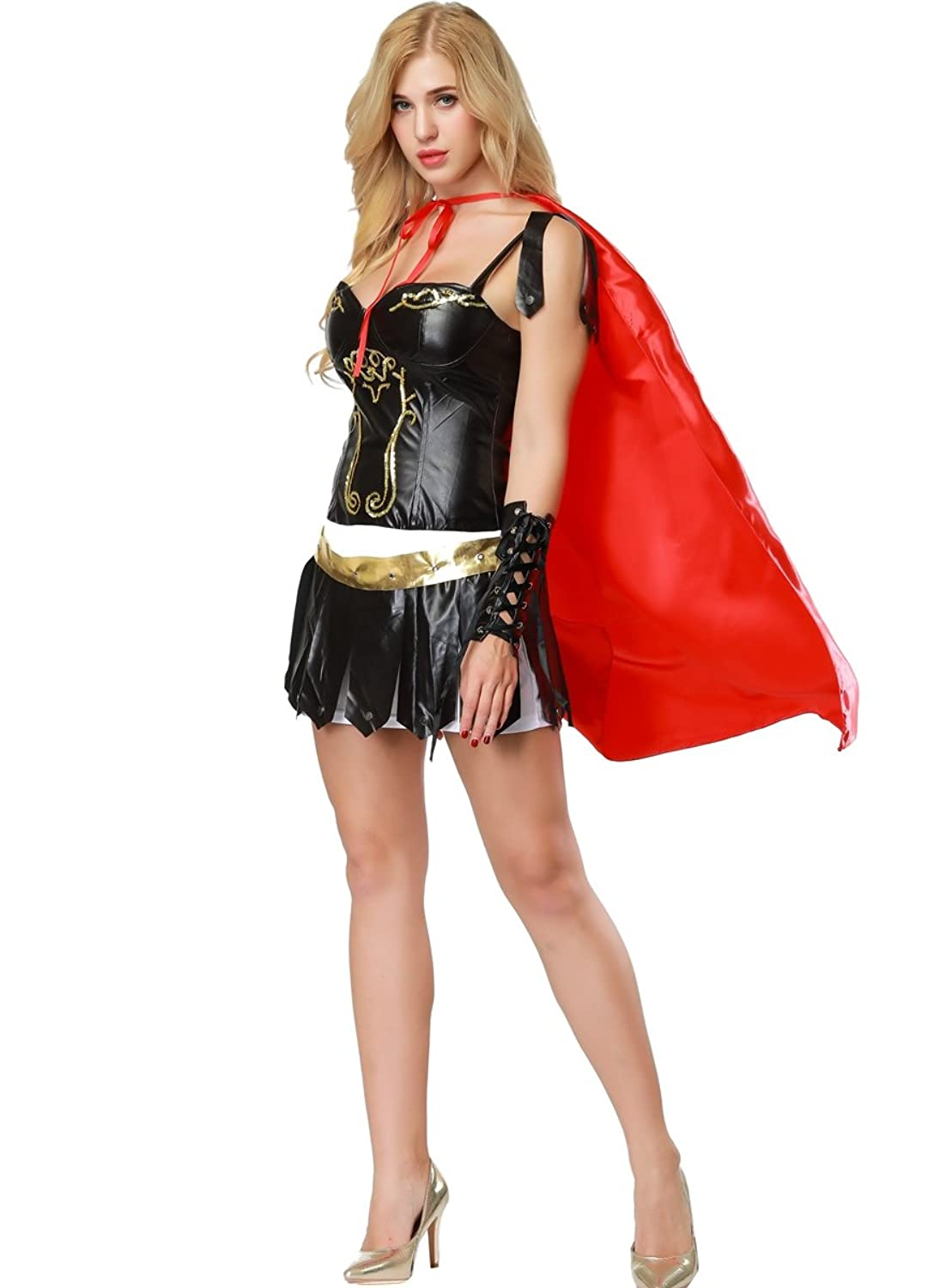 5a613e9b4f Halloween Sexy Greek Gladiator Women Adult Cosplay Costume Black Suit Gown  Dress Gladiator Costume for Women,Sexy Gladiator Costume,Sexy Warrior  Costume, ...