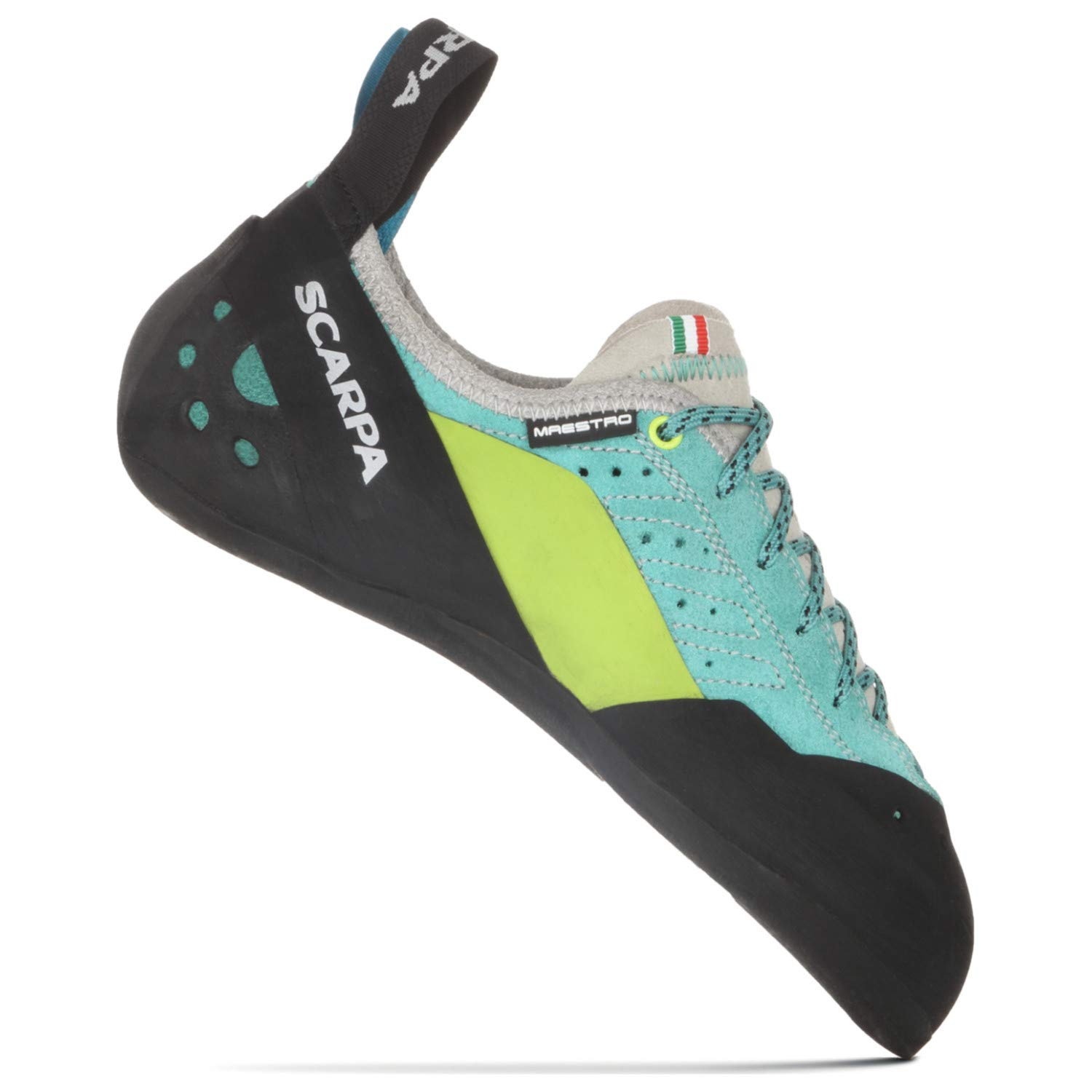 SCARPA Maestro ECO Climbing Shoe - Women's Green Blue 37.5 by SCARPA