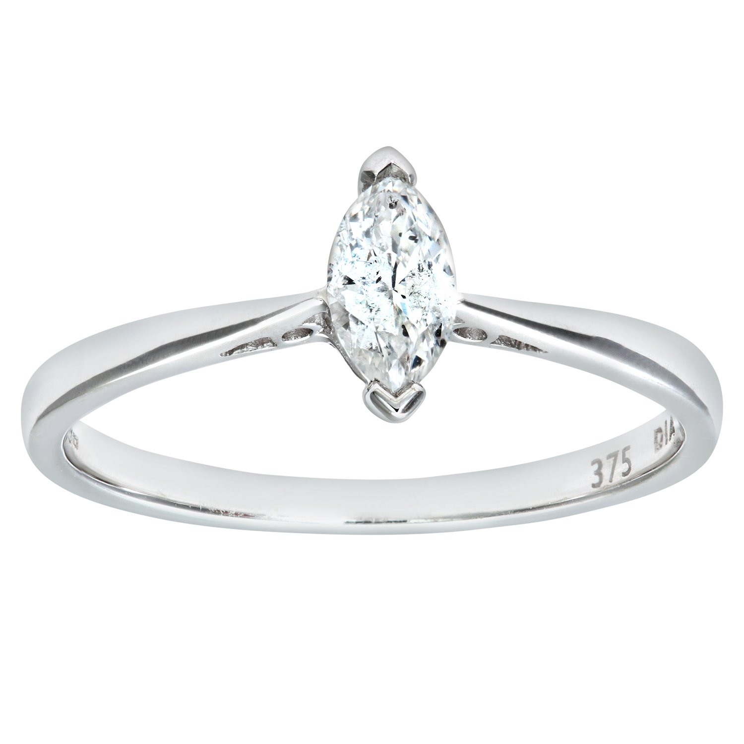 diamond in solitaire platinum engagement bypass setting ring