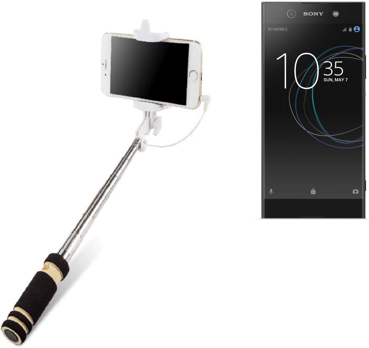 K-S-Trade Selfie Stick Palillo para Sony Xperia XA1 Ultra, Negro ...