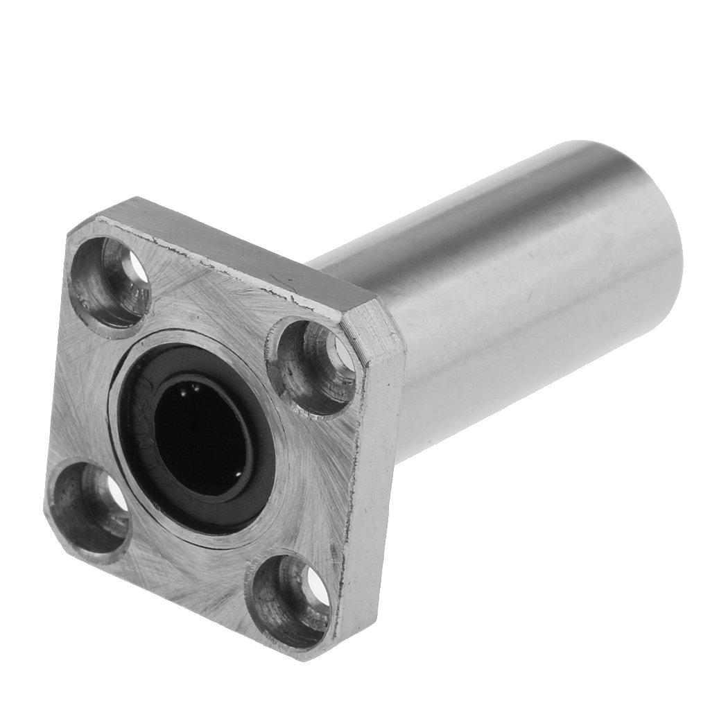 Sharplace LM8UU 8mm Long Square Flange Linear Motion Bushing Ball Bearing 3D Priter
