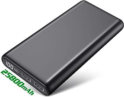 Pxwaxpy Power Bank, Caricabatterie Portatile 25800mAh