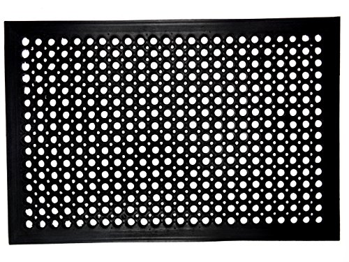 Iron Gate - 2 Pack Ramp Restaurant Drainage Mat - Anti-Fatigue Anti-Skid - 24x36 by half inch thick - Heavy Duty 100% Rubber Construction - Weighs a hefty 15 lbs.