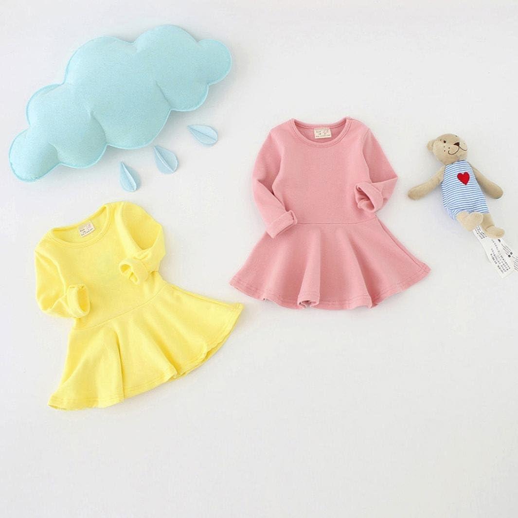 Amlaiworld Baby M/ädchen warm Langarmshirt Kleider bunt Niedlich Kleinkind Sport Freizeit kleidung1-4 Jahren