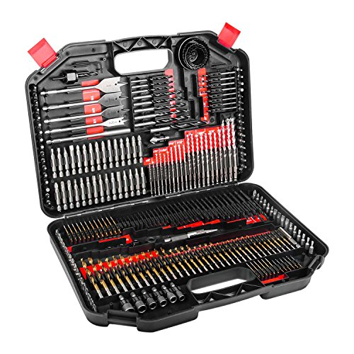 Enertwist 246-Piece Drill Bit Set Combo Kit for Metal Wood Masonry Cement Plastic Drilling and Screw Driving
