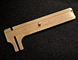 Chris-Wang Portable Sliding Double Scale Vernier Copper Caliper Brass Millimeter Inches Gauge for Measuring Gemstones and Jewelry Components