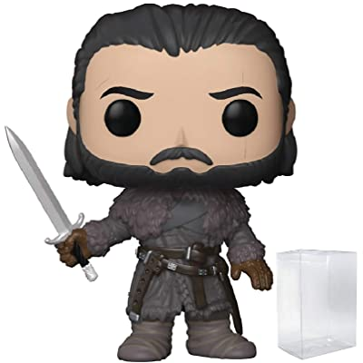 Game of Thrones: Jon Snow Beyond the Wall Funko Pop! Vinyl Figure (Includes Compatible Pop Box Protector Case): Toys & Games