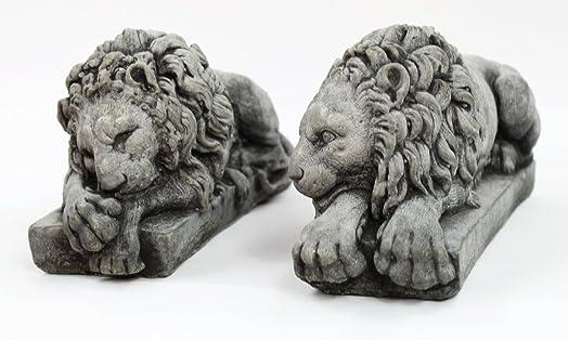 Fleur de Lis Garden Ornaments LLC Vatican Lions Pair Concrete Statue