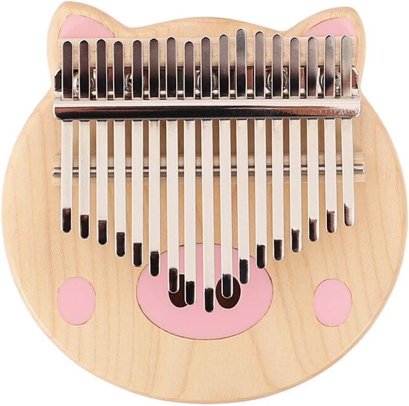カリンバ 親指ピアノ マリンバ 子供のための7のギフトアクセサリーの最高の贈り物とカリンバ17のキーソリッド親指ピアノナチュラルメープルウッドポータブル指ピアノ 初心者 キーボード (色 : Wood, サイズ : ワンサイズ)