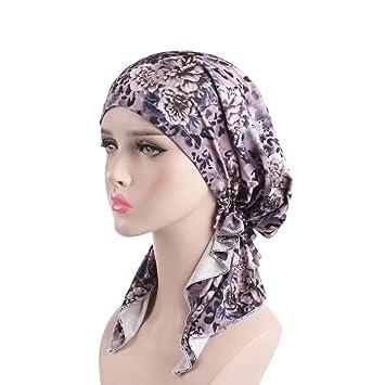 Stirnband Schal Kopftuch Haar Verlust Kopf Abdeckung elastisch Mütze Krebs Hut